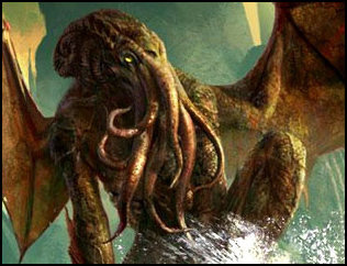 Lovecraft's Cthulhu is from beyond the stars...